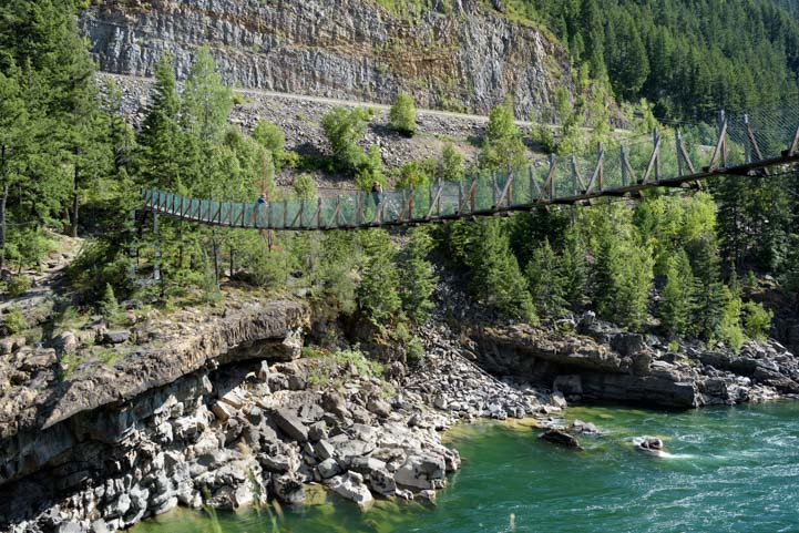 Swinging Bridge Kootenai Falls Wildlife Management Area Montana