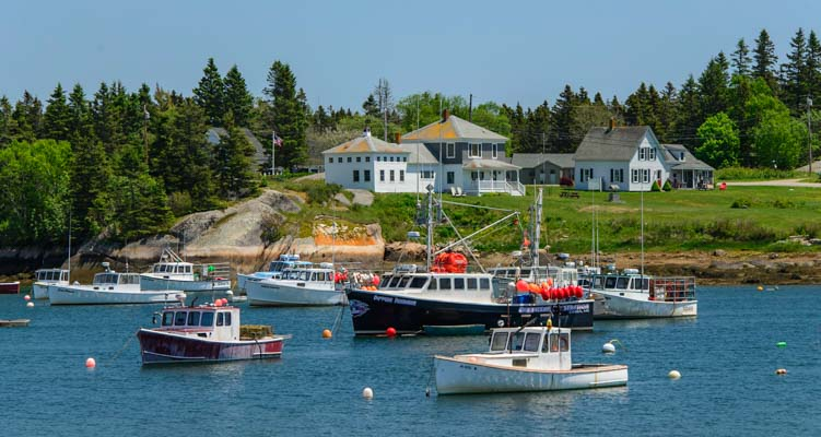 Lobster boats on the Maine Coast