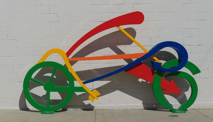 Bike sculpture Sandpoint Idaho