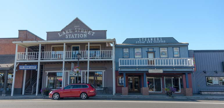 Historic buildings downtown McCall Idaho