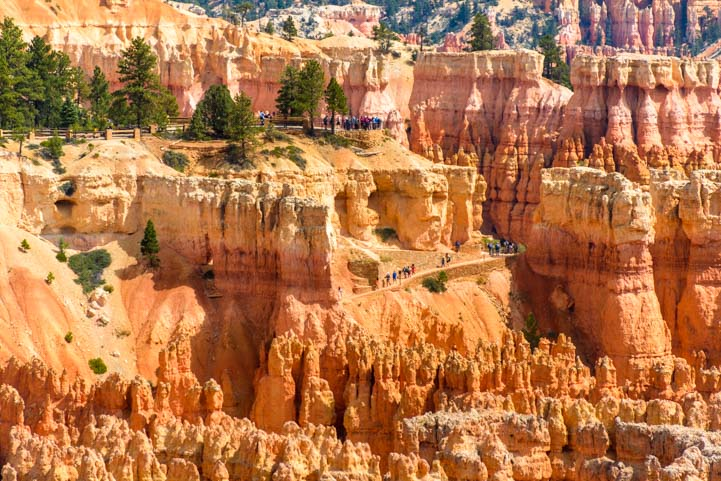 Hiking trails Bryce Canyon National Park Inspiration Point Utah