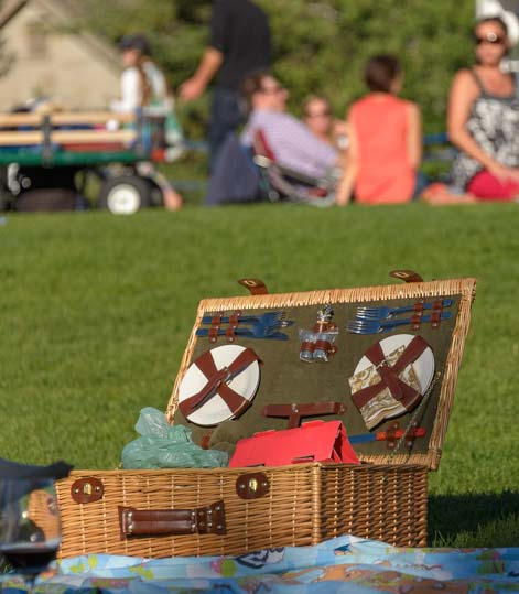 Picnic Basket at Sun Valley Symphony summer concert on the lawn