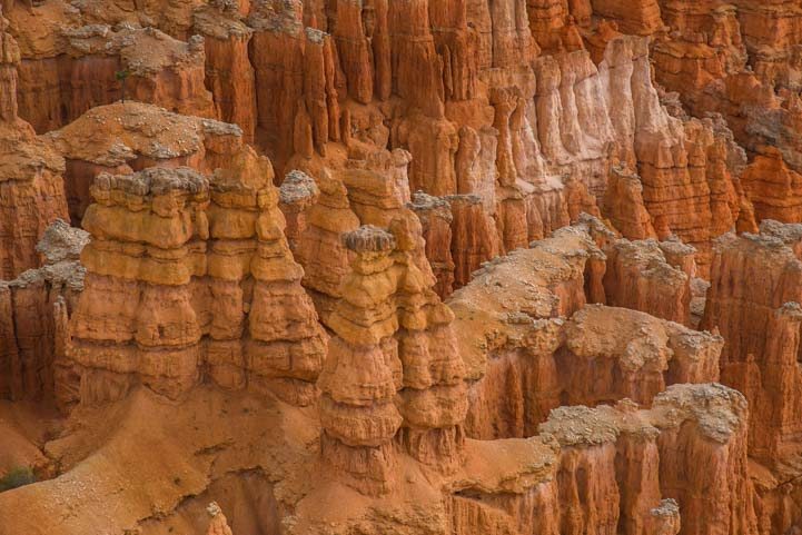 Closeup spires Bryce Canyon National Park Inspiration Point Utah