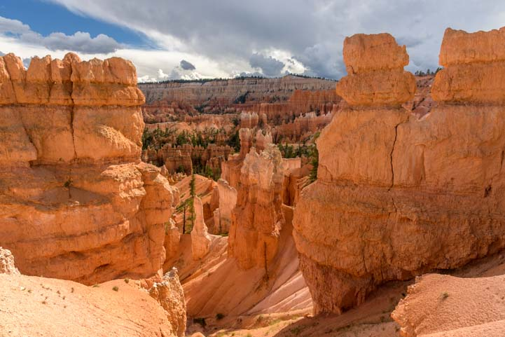 View from Rim Trail Bryce Canyon National Park Utah