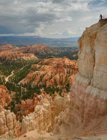 Top overlook Inspiration Point Bryce Canyon National Park Utah