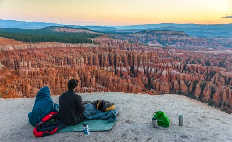 Sunrise on the Rim Bryce Canyon National Park Inspiration Point Utah