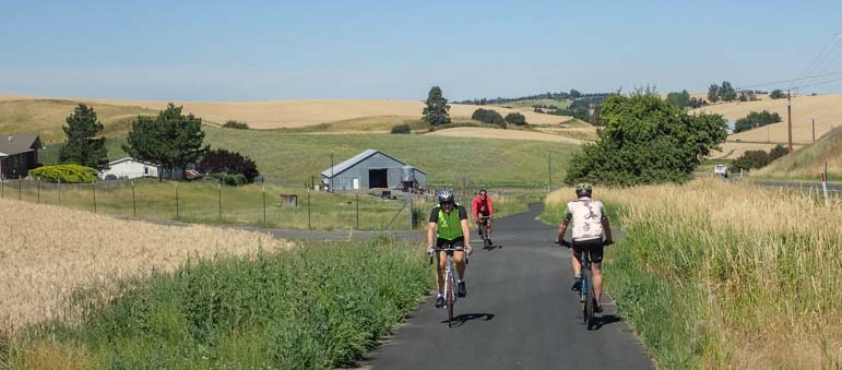 Latah Bike Path from Moscow Idaho to Troy Idaho