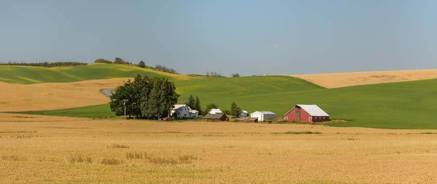 Farmland in western Idaho panhandle