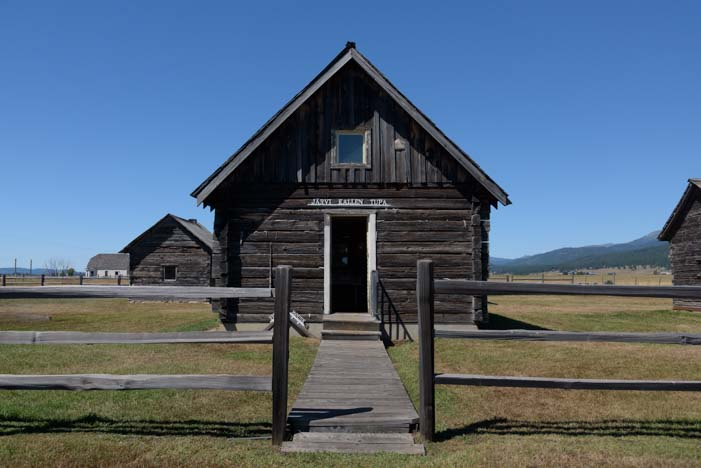 Antique cabin Finnish settlement Roseberry Idaho
