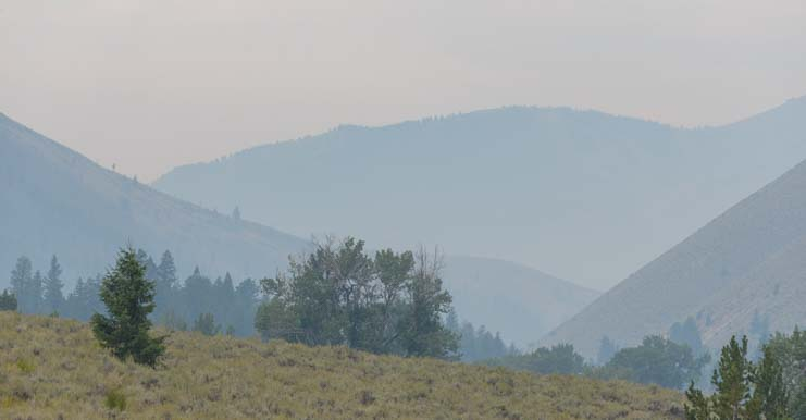 Pioneer Wildfire Smoke Sun Valley Idaho