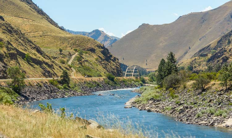 Idaho scenery Little Salmon River