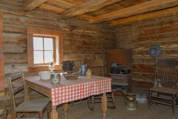 Inside a cabin Roseberry Idaho Finnish historic settlement