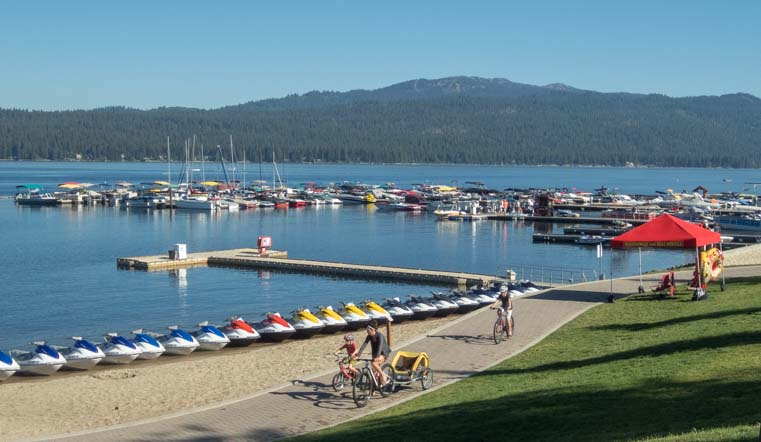 Legacy Park on the beach in McCall Idaho