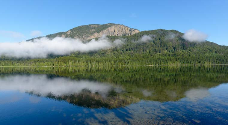 Reflections on Bull Lake Montana