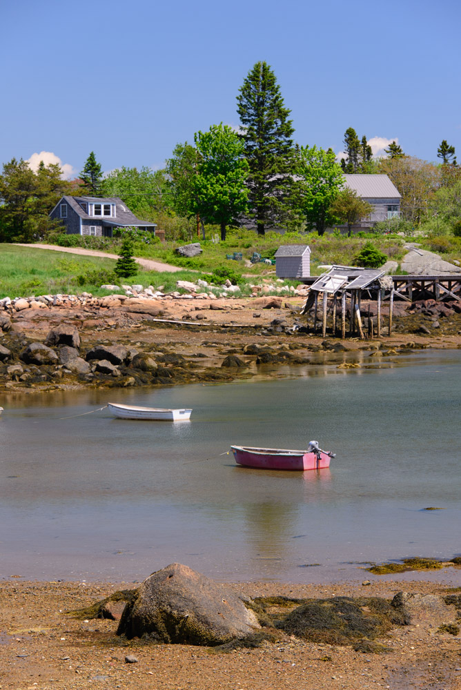 Calm harbor on the Maine Coast at Acadia National Park