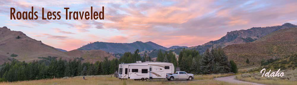 Idaho RV Trip Camping at Sunset