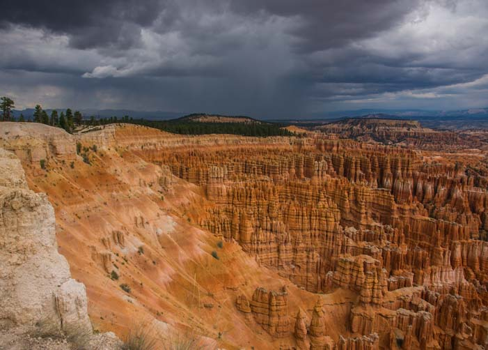 Storm Bryce Canyon National Park Inspiration Point Utah