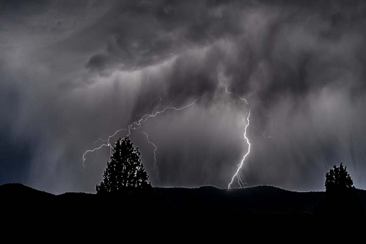 Lightning strikes Bryce Canyon National Park Utah