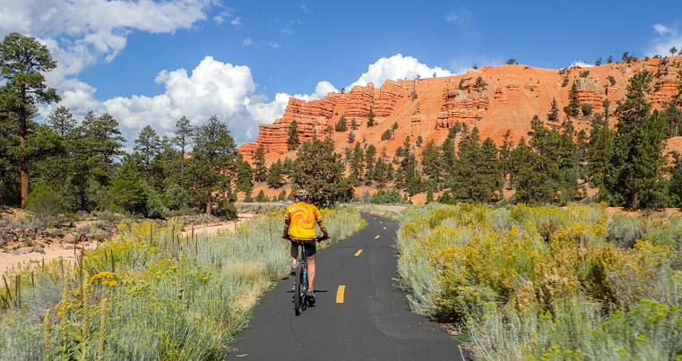 Red Canyon Bike Path in Utah
