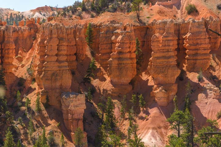 Glowing hoodoos Fairyland Trail Bryce Canyon National Park Utah