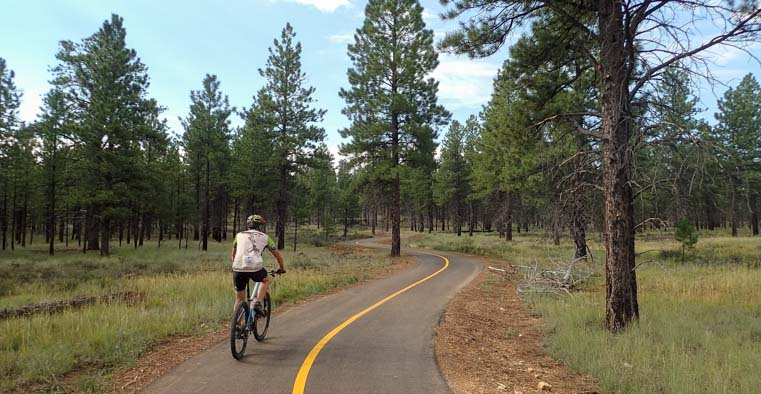 Bicycling on the Bryce Canyon Bike Trail Utah