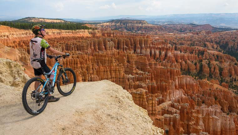 New Bryce Canyon Bike Trail to Inspiration Point