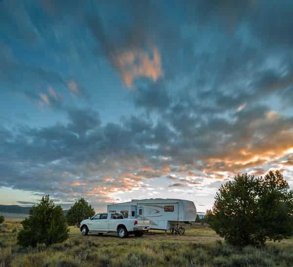 RV camping in Utah