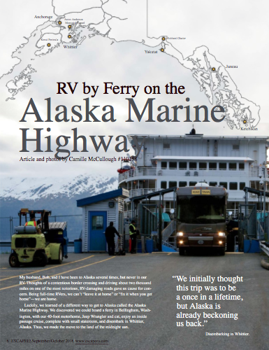 RV by ferry on the Alaska Marine Highway