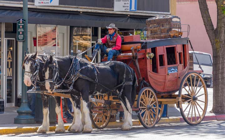 Horse and buggy ride Durango Colorado