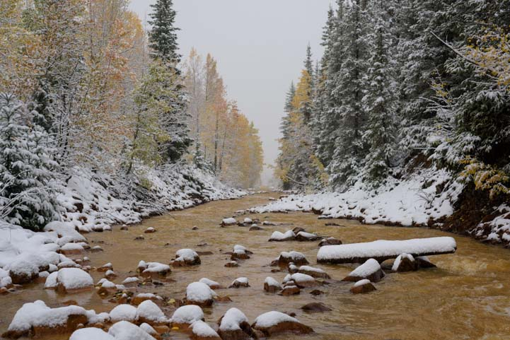 Snowy River Colorado Rocky Mountains San Juan Skyway