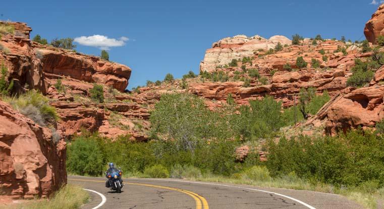 Motorcycle Utah Scenic Byway 12 RV trip