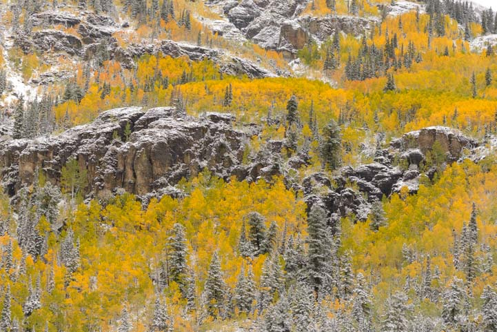 Rocky Mountains in autumn San Juan Skyway Colorado