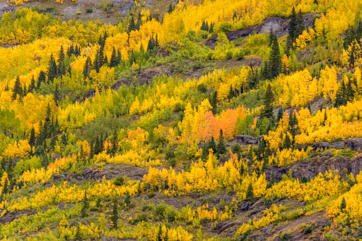 Mountains of gold San Juan Skyway Colorado Rocky Mountains