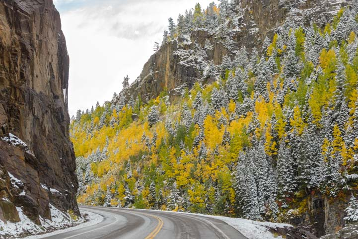 Million Dollar Highway autumn color San Juan Skyway Colorado Rocky Mountains