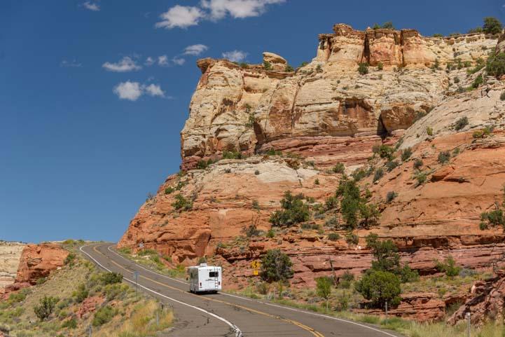 RV motorhome Utah Scenic Byway 12