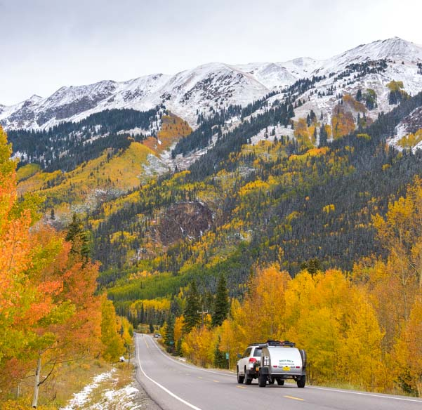 RV fall colors San Juan Skyway Colorado Rocky Mountains