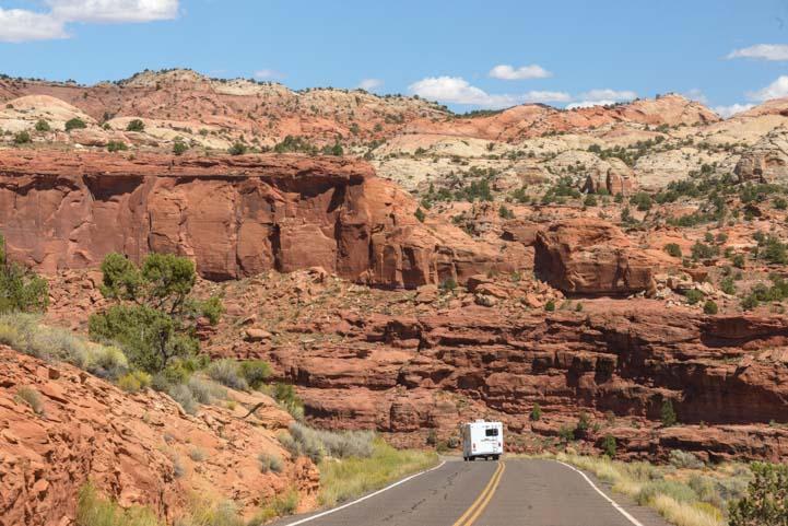Motorhome Scenic Byway 12 Utah RV trip
