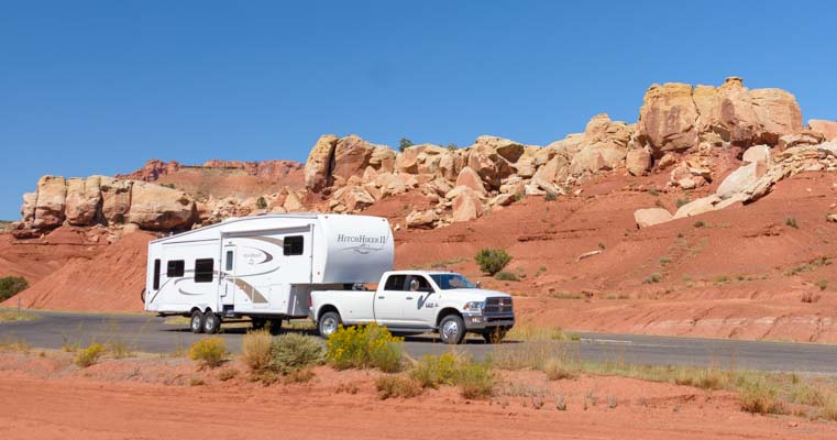 RV on Utah Scenic Byway 12