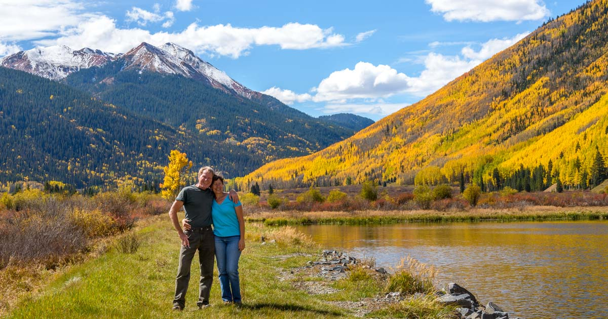 Brilliant Fall Foliage Snow In The San Juan Mountains Of