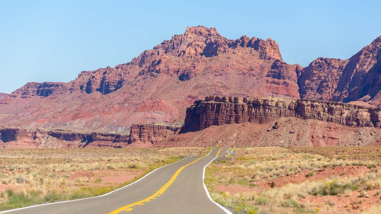 Driving through Vermillion Cliffs National Monument Arizona