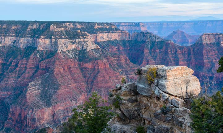 Colorful cliffs North Rim Grand Canyon Arizona