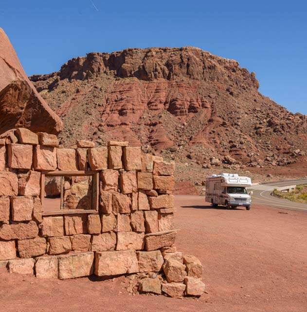 RV at Cliff Dwellers Vermillion Cliffs National Monument Arizona