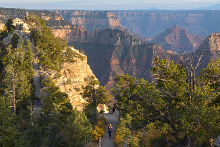 Hiking to Bright Angel Point North Rim Grand Canyon Arizona