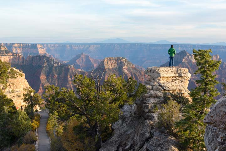 Hke to Bright Angel Point North Rim Grand Canyon Arizona