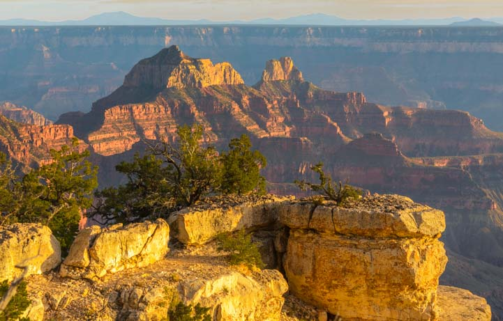 Golden hour North Rim Grand Canyon Arizona