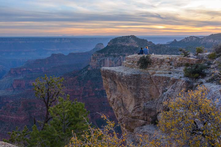 Sunset North Rim Grand Canyon Arizona