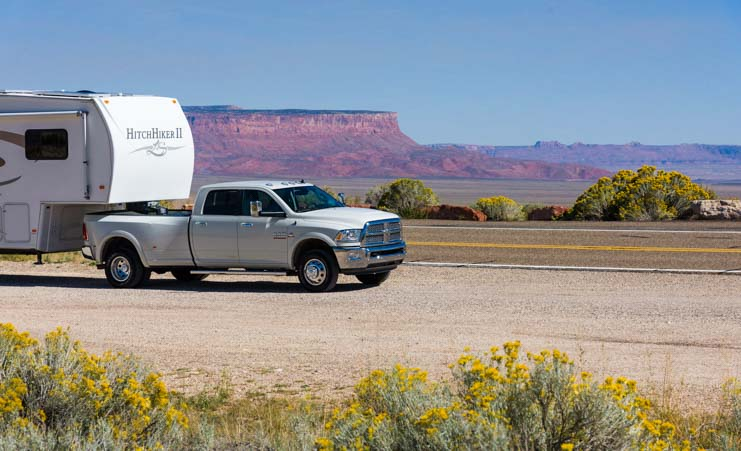 RV at Vermillion Cliffs National Monument Arizona