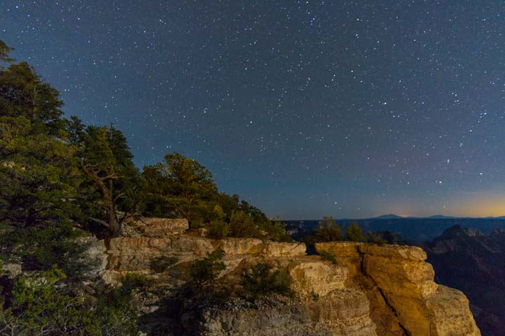 Stars at North Rim Grand Canyon Arizona