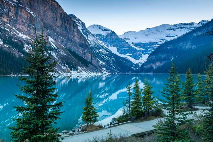 Lake Louise in Banff National Park Alberta Canada
