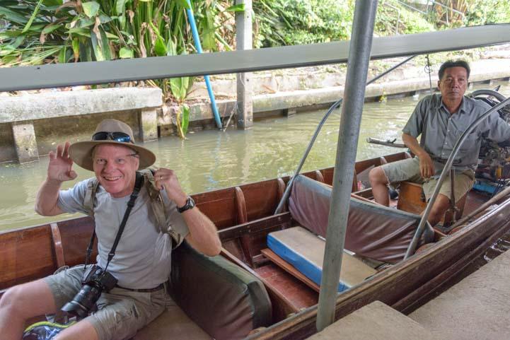 Longtail boat floating market Bangkok Thailand